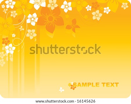 floral abstract vector with stripes and butterflies