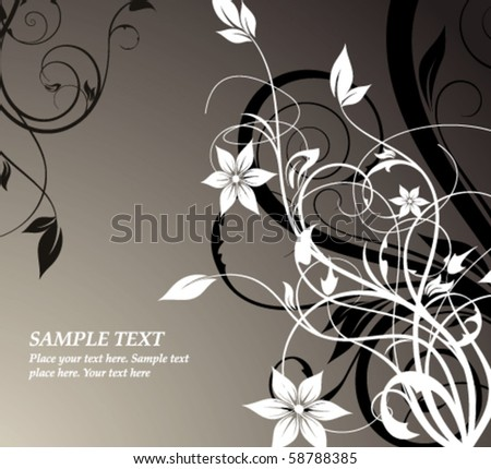 floral abstraction - stock vector