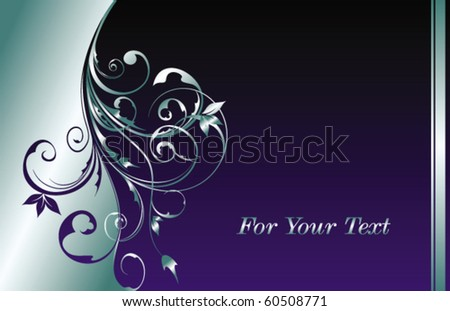 floral abstraction for design - stock vector