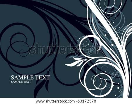 floral abstraction for your design - stock vector