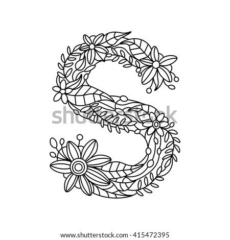 Floral Letters Stock Images Royalty Free Images Amp Vectors
