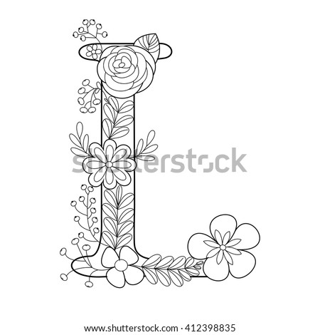Zentangle Letters Stock Photos Royalty Free Images