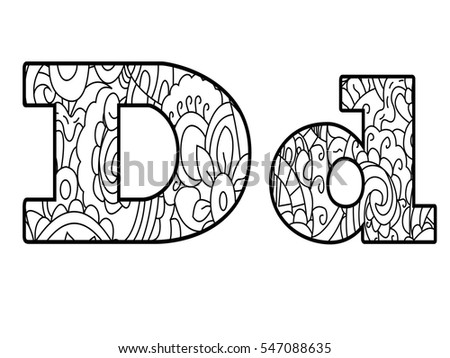 Zentangle Letters Stock Images, Royalty-Free Images & Vectors ...