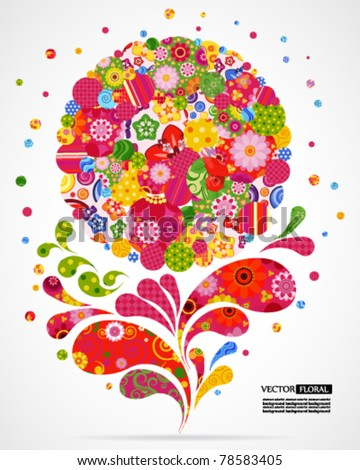 Floral and ornamental background. - stock vector