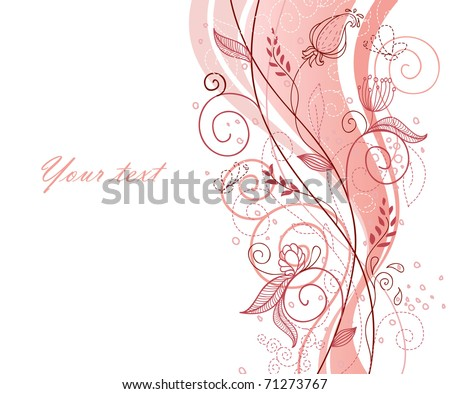 Floral back - stock vector