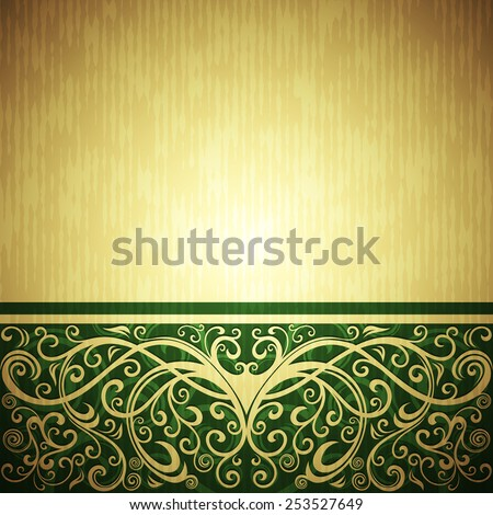 floral backdrop - stock vector