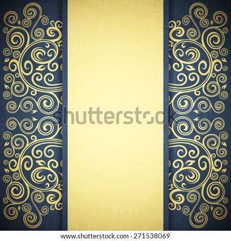 Floral backdrop - stock vector