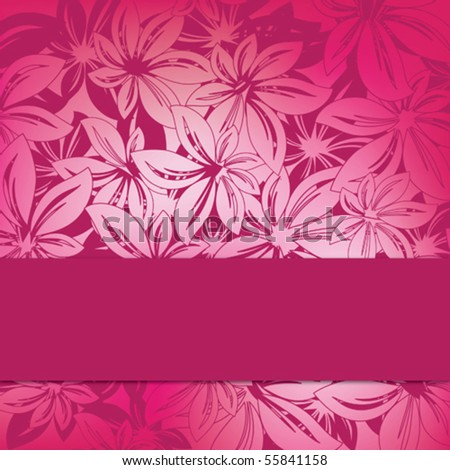 floral background design with copy space - stock vector