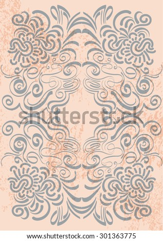 Floral Background for Text - stock vector
