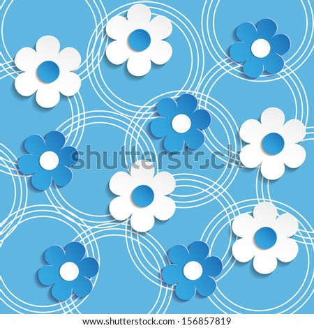 floral background - Illustration, vector . - stock vector