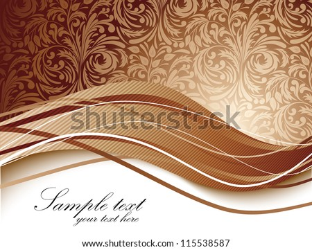 Floral background in brown color