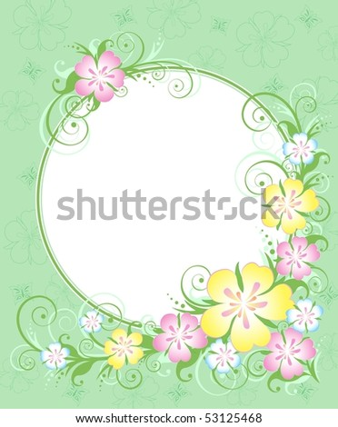 Floral background, invitation, vector illustration. EPS8, all parts closed, possibility to edit. - stock vector