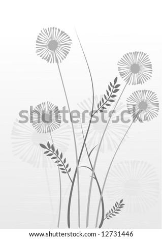 floral background, meadow, garden - stock vector