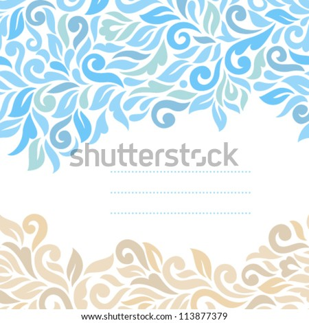 Floral background. Ornamental seamless pattern - stock vector