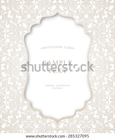 Floral background pattern best for invitations or announcements cards. Elegant luxury texture for wallpapers, backgrounds and page fill. Vector illustration. - stock vector