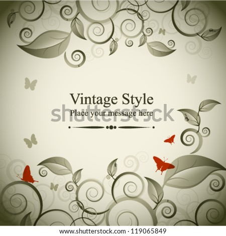 Floral background template. Vector illustration. - stock vector
