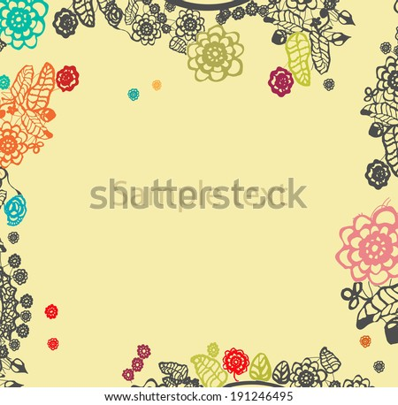 Floral background. vector - stock vector
