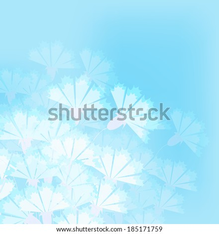 Floral background, vector illustration
