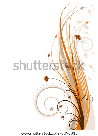 Floral  background - vector illustration - stock vector