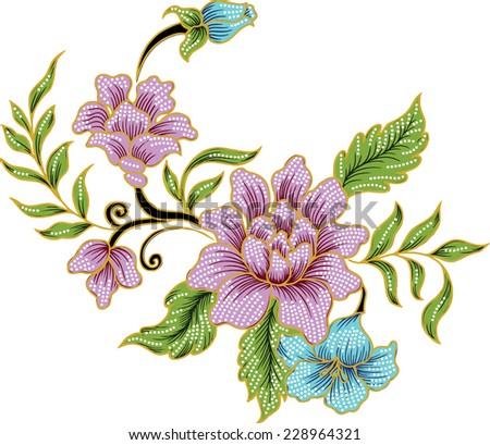 floral background.vintage background. - stock vector