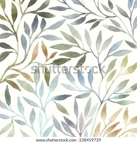 Floral background. Watercolor pattern. - stock vector