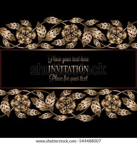 Floral background antique luxury black gold stock vector 2018 floral background antique luxury black gold stock vector 2018 544488007 shutterstock stopboris Gallery