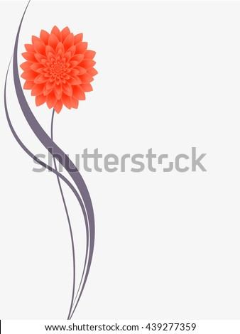 Floral background with flower dahlia. - stock vector