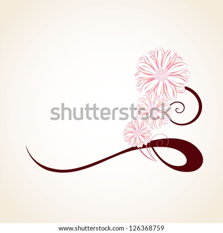 Floral background with flowers chamomile. Element for design. - stock vector