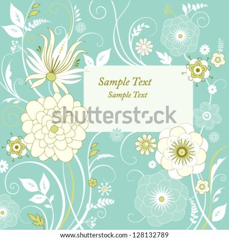 Floral background with place for your text - stock vector