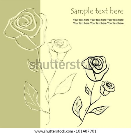 Floral background with roses, vector illustration - stock vector