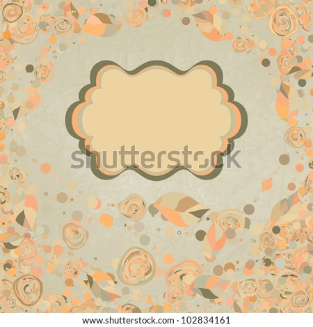 Floral backgrounds with vintage roses. And also includes EPS 8 vector - stock vector
