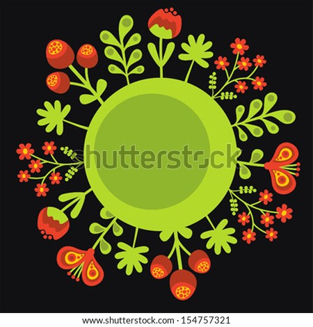 Floral banner for your smart text. Vector illustration. - stock vector