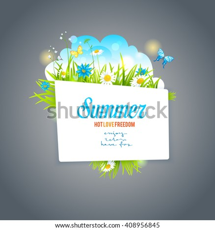 Floral banner on dark backdrop. Nature template for design banner,ticket, leaflet, card, poster and so on.  - stock vector