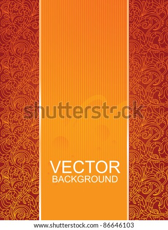 floral beautiful red background - vector illustration