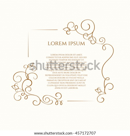 Floral border template greeting cards invitations stock vector template for greeting cards invitations menus m4hsunfo