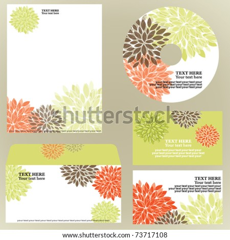 Floral business template - stock vector