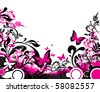 floral butterfly background - stock vector