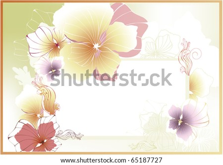 floral card or invitation