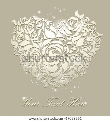 floral card wedding backgrounds - stock vector