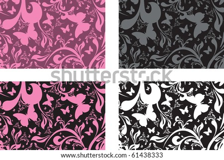 floral cards - stock vector