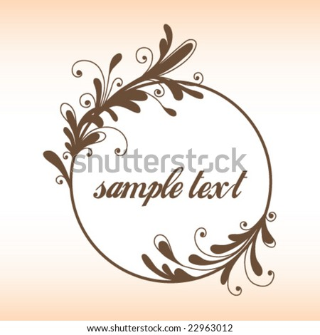 Floral circle - stock vector