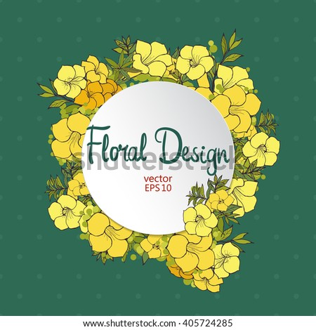 vector floral frame exotic flowers border stock vector, Beautiful flower