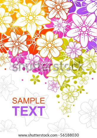 Floral colorful background - stock vector