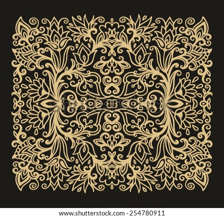 Floral composition - stock vector