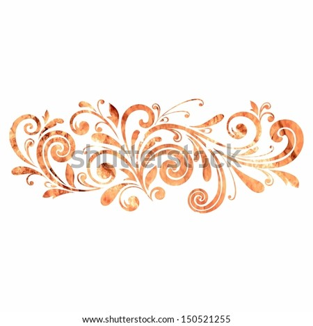 Floral decoration. Floral pattern. Floral frame. Calligraphic design element. Russian style. - stock vector