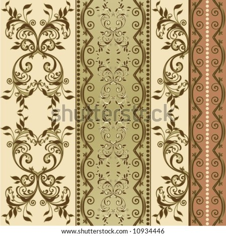 floral decorative background - stock vector