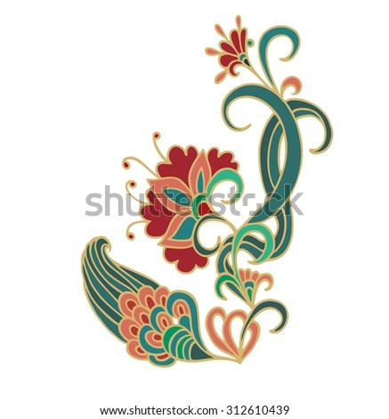 Floral decorative composition - stock vector