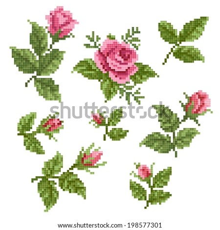 Floral decorative element, lappet - stock vector