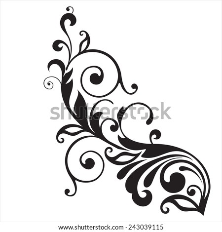 Floral decorative elements  - stock vector