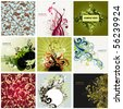 floral design background - stock vector